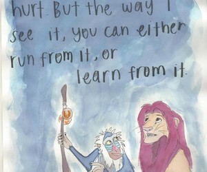 quote, lion king, and past image