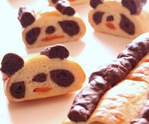 panda and sweet image