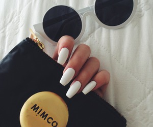 nails, white, and sunglasses image