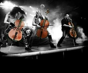 band, cello, and symphonic metal image