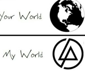 Logo, world, and linkin park image