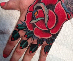 hand, oldschool, and tattoo image