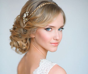 beautiful, hairstyle, and wedding hairstyle image