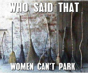 women, broom, and lol image
