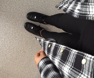 black, fashion, and flannel image