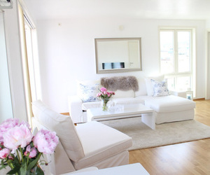 house, white, and room image