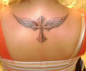 cross, tatoo, and nicz image
