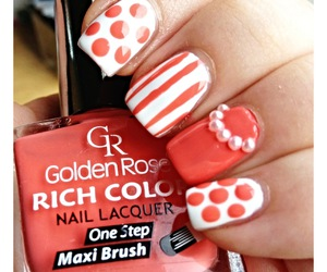 manicure, nails, and dots image