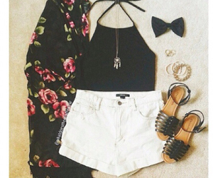 black, flowers, and girly image