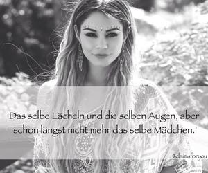 girl, sprüche, and lächeln image