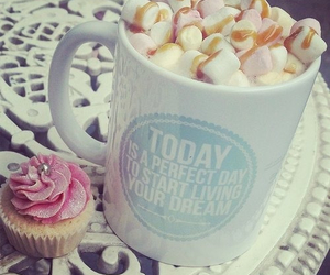 food, cupcake, and coffee image
