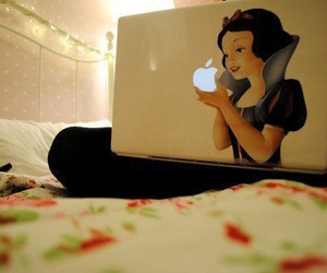 apple, snow white, and laptop image