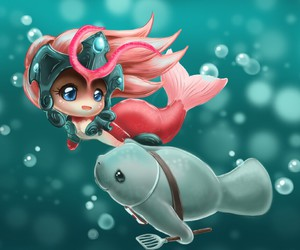 mermaid, lol, and league of legends image