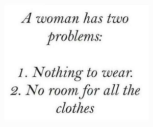 clothes, woman, and problem image
