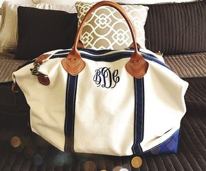 monogram, preppy, and travel image