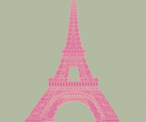 eiffel tower, pretty, and pink image