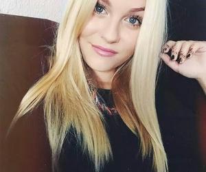blond, eyes, and youtube image