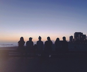 friends, night, and sunset image