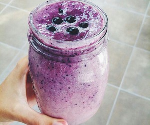 food, blueberry, and smoothie image