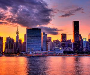 city, luxury, and sunset image