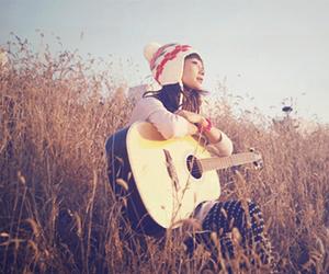 asian, girl, and guitar image