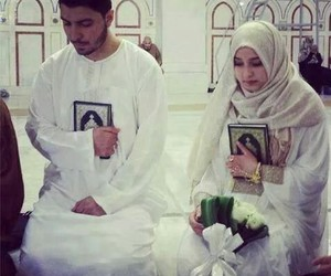 adorable, islam, and couple image