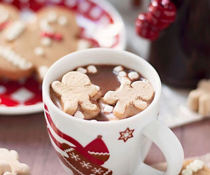 drink, chocolate, and gingerbread image