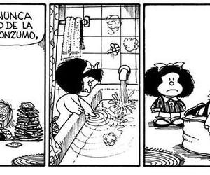 frases, mafalda, and hermano image