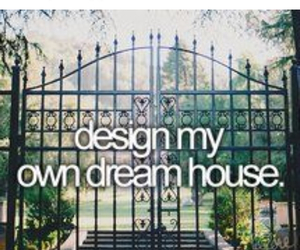 dream house and bucket list image