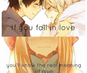 anime, love, and pain image