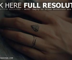 finger, small tattoo, and hand image