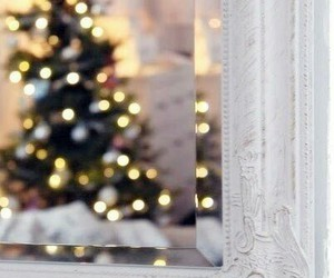 christmas, mirror, and christmas tree image