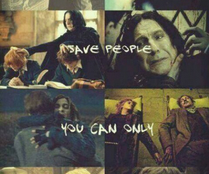 death, snape, and dobbie image