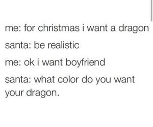boyfriend, christmas, and dragon image