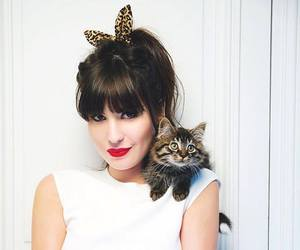 bangs, beauty, and red lipstick image