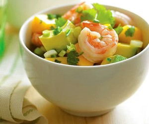 shrimp, food, and salad image