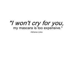 quotes, cry, and mascara image