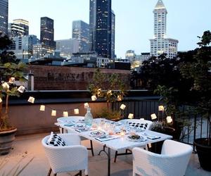 city, light, and dinner image