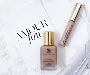 makeup, estee lauder, and orchid image