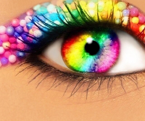 rainbow, pretty, and eye image