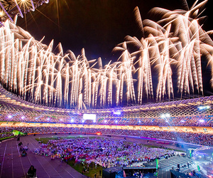 fireworks, photography, and olympics image