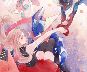pokemon, serena, and lucario image