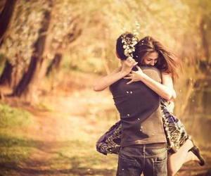 teen, beautiful, and young love image