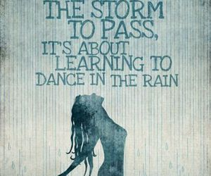 rain, quotes, and life image