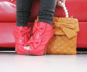 shoes, pink, and bag image