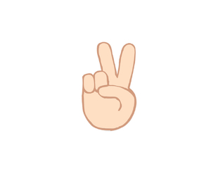 Peace Out Emoticon Text