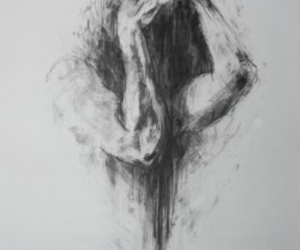 black and white, sketch, and depression image