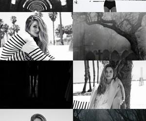 black and white, edit, and Shailene Woodley image