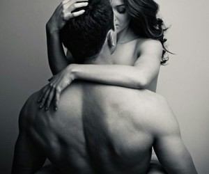 black and white, sexy, and love image