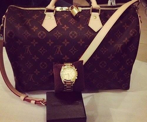 bag, watch, and louis v image